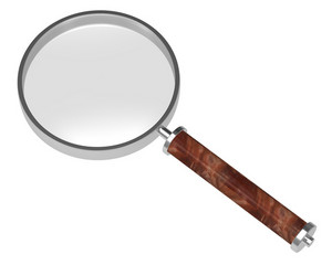 Magnifier Isolated On White