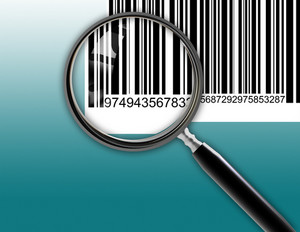 Magnifying Glass Scanning Bar Code
