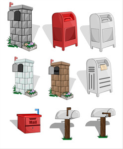 Mail Box And Letterbox Vector Collection