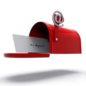 Mail Box Shows E-mail Correspondence
