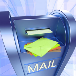 Mail On Mailbox Showing Sending Letters