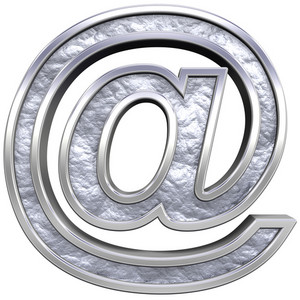 Mail Sign From Chrome Cast Alphabet Set