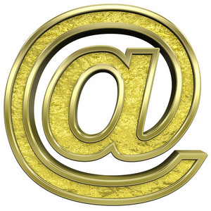 Mail Sign From Gold Cast Alphabet Set