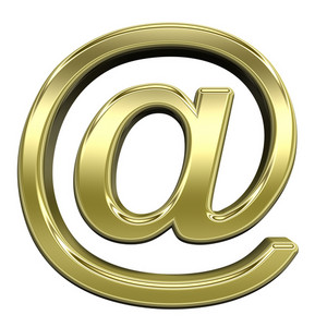 Mail Sign From Shiny Gold Alphabet Set