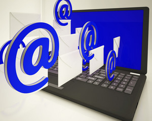 Mail Signs Leaving Laptop Shows Ongoing Messages
