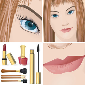 Make-up. Vector.