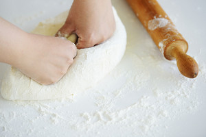 Making bread and healthy organic cereal food