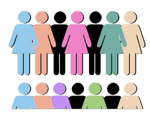Male Female Shapes Vectors