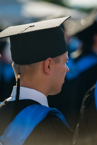 Male graduate with a graduation hat