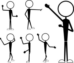 Male Stick Figures