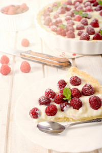 Slice Of Raspberries Tart