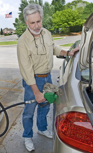 Man Buying Gasoline