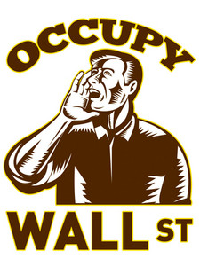Man Calling For Occupy Wall Street Support 2