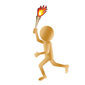 Man-carrying-torch