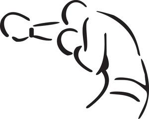 Man Doing Mixed Martial Art.