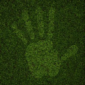 Man Hand Print