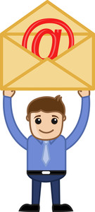 Man Having An E-mail Envelope