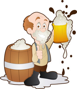 Man Having Beer - Cartoon Character