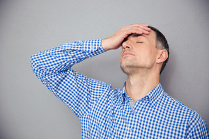 Man having headache
