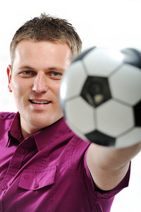 Man holding football