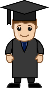 Man In Graduation Dress
