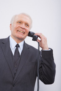 Man making phone call