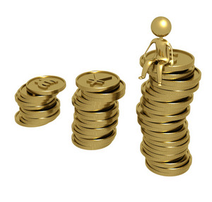 Man On Gold Coins