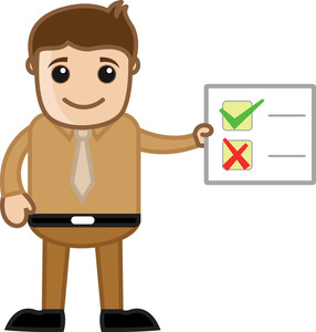 Man Showing Checklist - Business Cartoon Character Vector