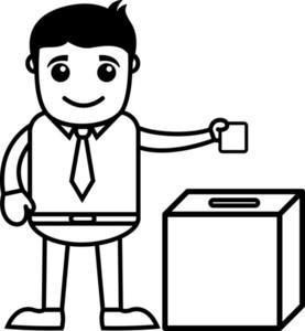 Man Voting - Business Cartoon Character Vector
