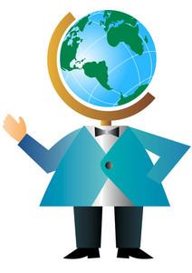 Man With Globe Head