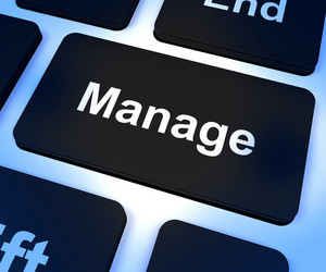 Manage Key Showing Leadership Management And Supervision