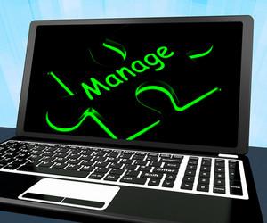 Manage Puzzle On Laptop Shows Management
