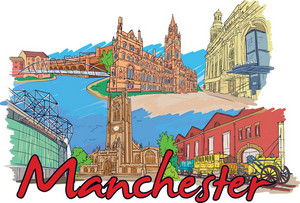 Manchester Vector Doodle