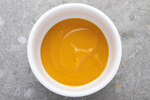 Mango Fruit Puree In White Bowl