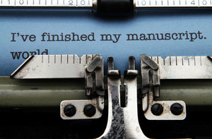 Manuscript On Typewriter Machine
