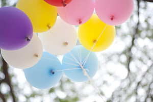 many colored balloons forming a bright background wallpaper image