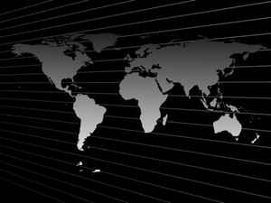 Map Of The World Isolated On Black