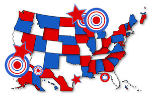 Map Us 4th Of July Independence Day Vector Design