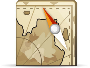Map With Compass Lite Application Icon