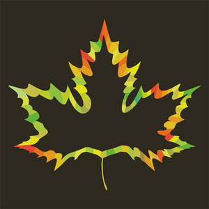 Maple Leaf Design On White