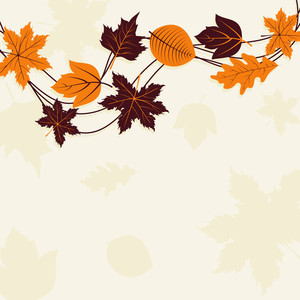 Maple Leaves On Seamless Background For Autumn Season