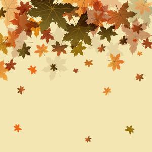 Maple Leaves On Vintage Background For Autumn Season