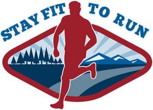 Marathon Road Runner Jogger Fitness