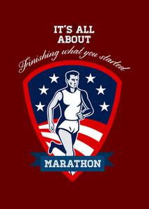 Marathon Runner Finish What You Start Poster