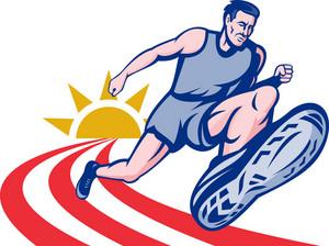 Marathon Runner On Track