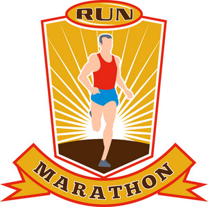 Marathon Runner Run Race Shield
