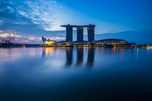 Marina Bay view with twilight. Singapore