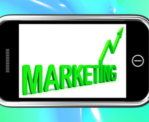 Marketing On Smartphone Showing Sales Improvement