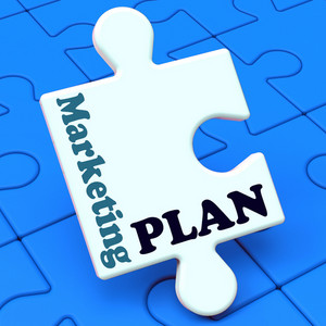 Marketing Plan Shows Development Planning Strategy