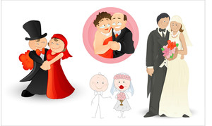 Married Couples Vectors